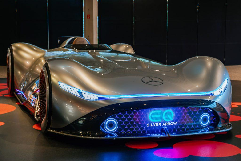 Ein Exponat der Sonderausstellung im Mercedes-Benz-Museum.